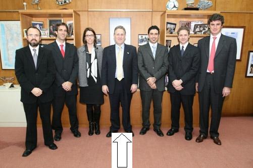 Laura Alonso y el embajador norteamericano